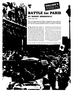 Colliers Battle of Paris First Page